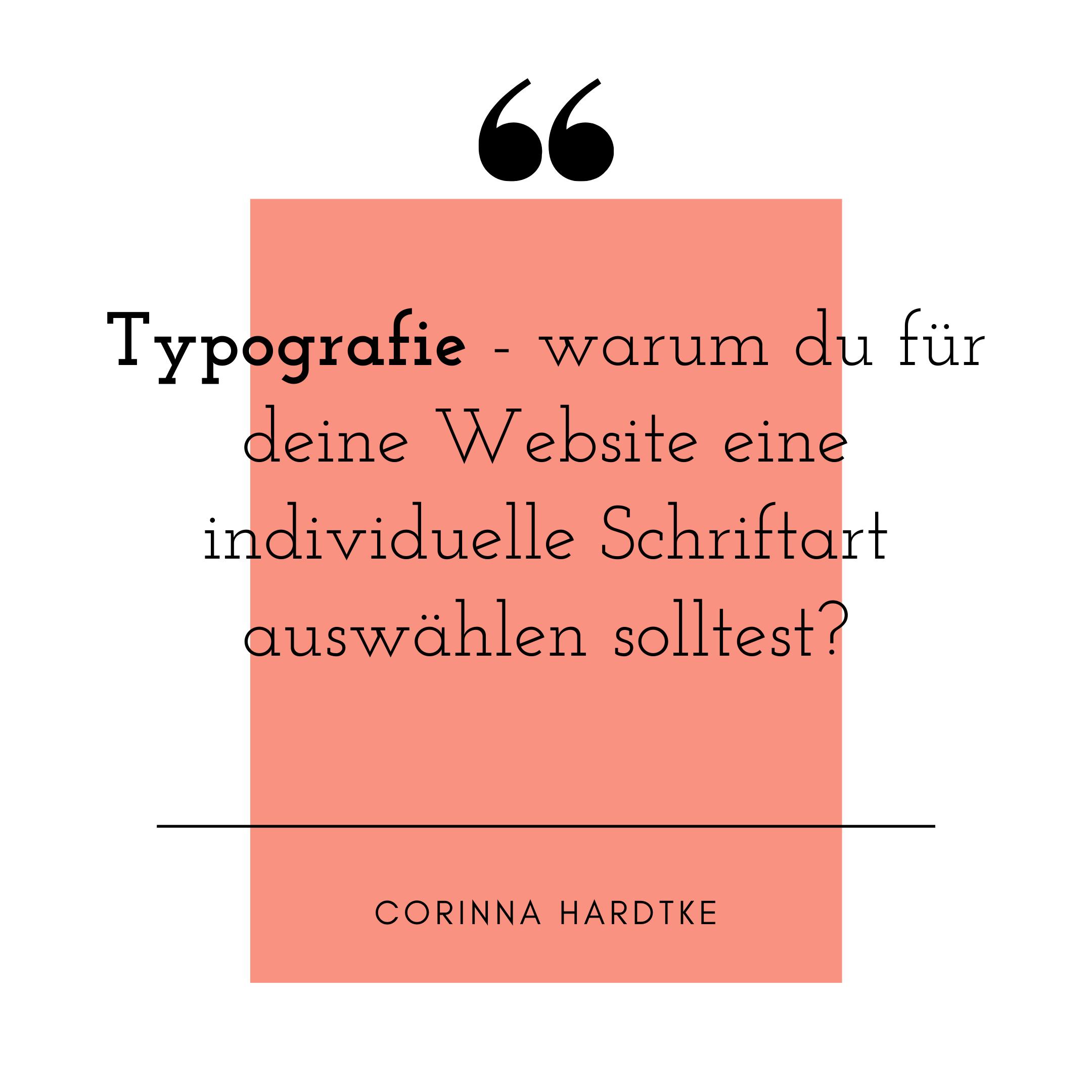 Blog Typografie Corinna Hardtke